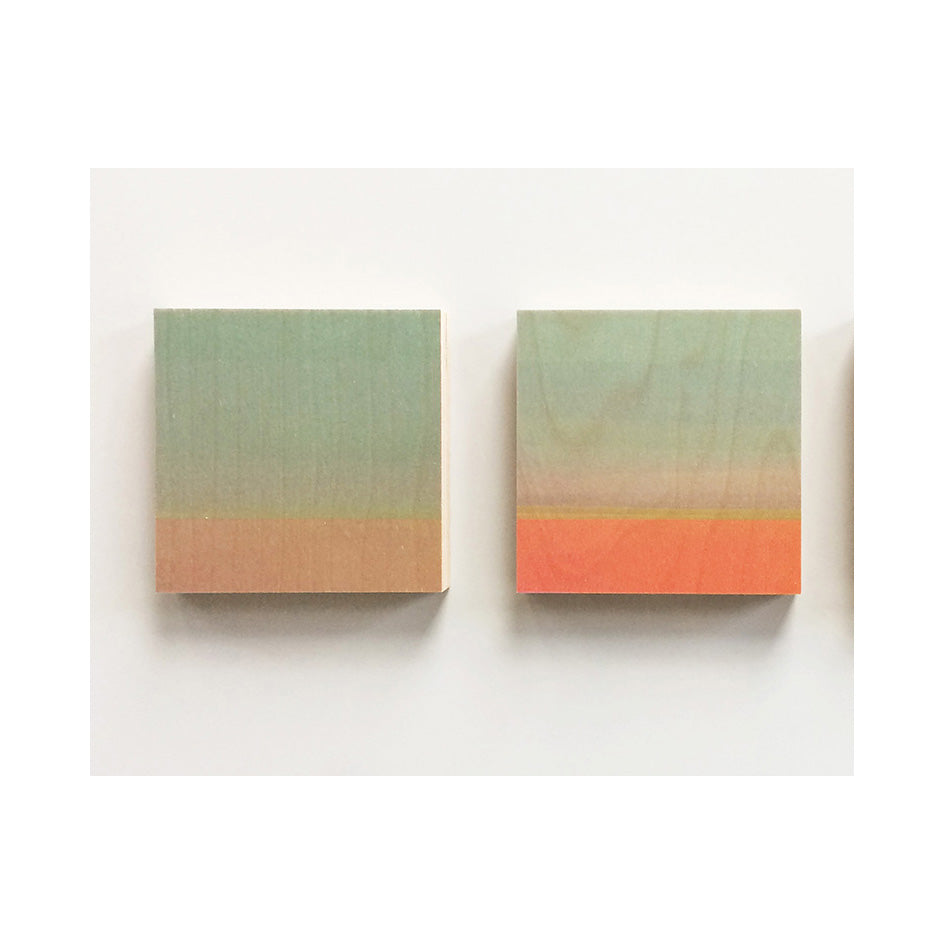 Sets of 2 Abstracts on Wood  - Christine Wilkinson