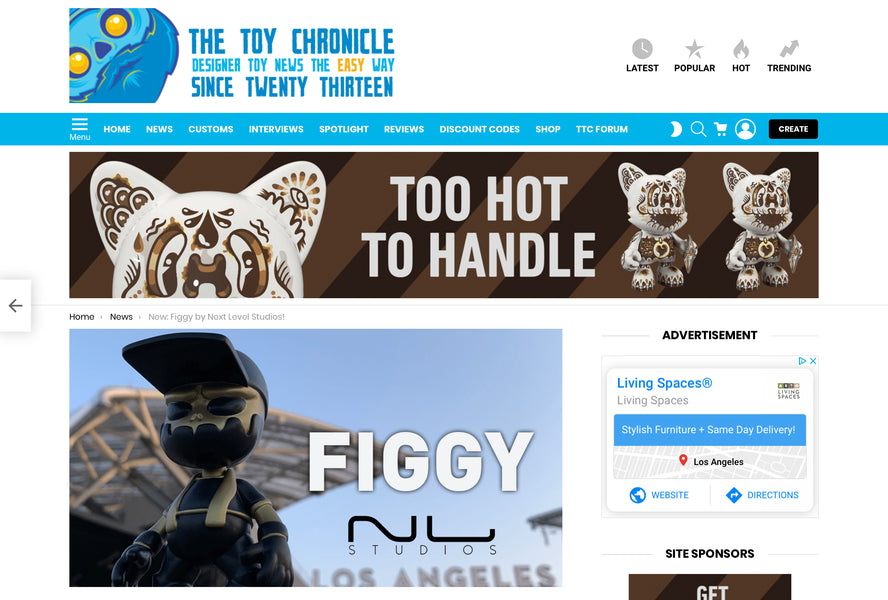 Figgy featured on The Toy Chronicle
