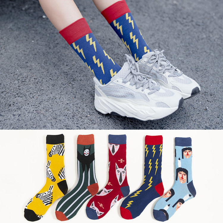 Cool Pattern Calf Socks