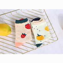 Load image into Gallery viewer, Strawberry/Orange Calf Socks