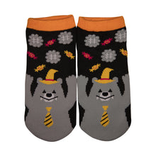 Load image into Gallery viewer, Halloween Bear Ankle Socks