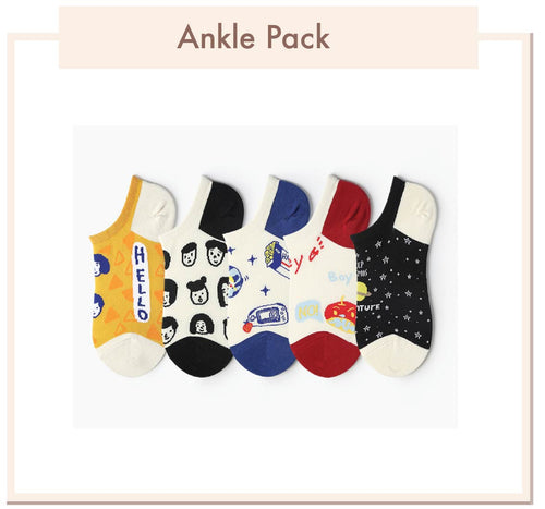 Short Ankle Socks Pack