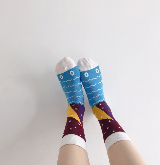Fish Eye Calf Socks