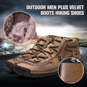 Outdoor Men Plus Velvet Boots Hiking Shoes