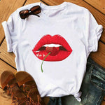 Load image into Gallery viewer, Simple Printed White T-shirt