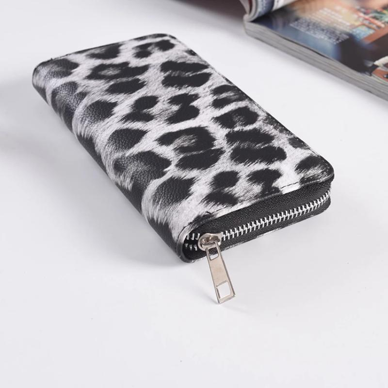 Women Classic Leopard Animal Print Long Wallets