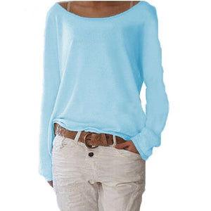 Loose Pullover Casual Tops