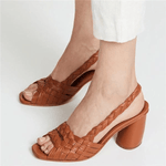 Load image into Gallery viewer, Women Elegant Chunky Heel Sandals