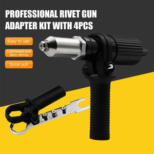 【🔥50% OFF🔥】Professional Rivet Gun Adapter Kit 🛠With 120 PCS RIVET WITH BOX