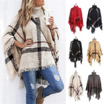 Load image into Gallery viewer, Lattice Cloak Poncho Sweater