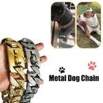 Load image into Gallery viewer, Heavy Duty Metal Chain Collar for Large Dogs