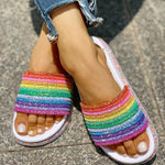 Load image into Gallery viewer, Rainbow Slipper