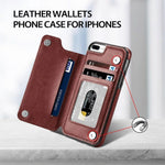 Load image into Gallery viewer, Leather Wallets Phone Case for iPhones, with card slots