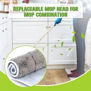 Replaceable mop head for mop combination