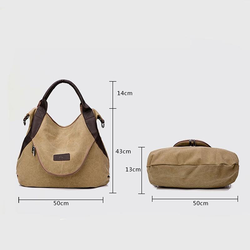 Women Large Capacity Pocket Casual Tote Handbag