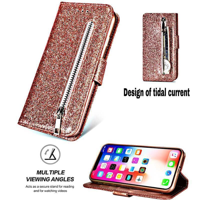 Zipper Wallet PU Leather phone Case