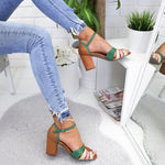 Load image into Gallery viewer, Women's splicing sandals with high heels