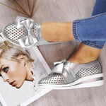 Load image into Gallery viewer, Women Casual Leather Flats BOWKNOT SNEAKERS