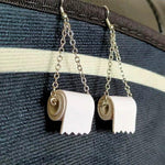 Load image into Gallery viewer, Sterling Silver Toilet Paper Earrings