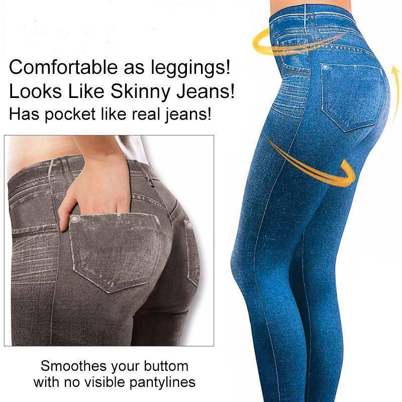 Sexy Imitation Jean Skinny Jeggings Skinny Pants