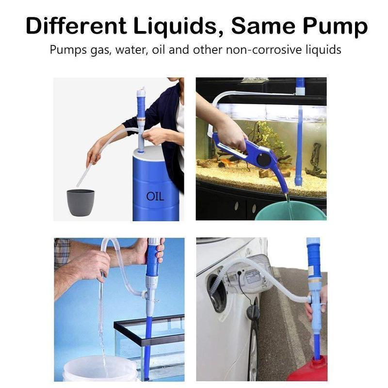Battery-Operated Liquid Transfer Siphon Pump