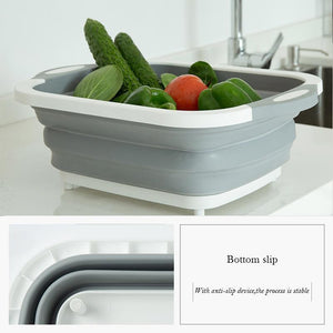 Portable Multi-function Collapsible Dish Tub