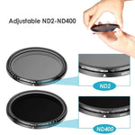 Load image into Gallery viewer, ND2-400 Neutrale Dichtheid Fader Variabele ND Filter