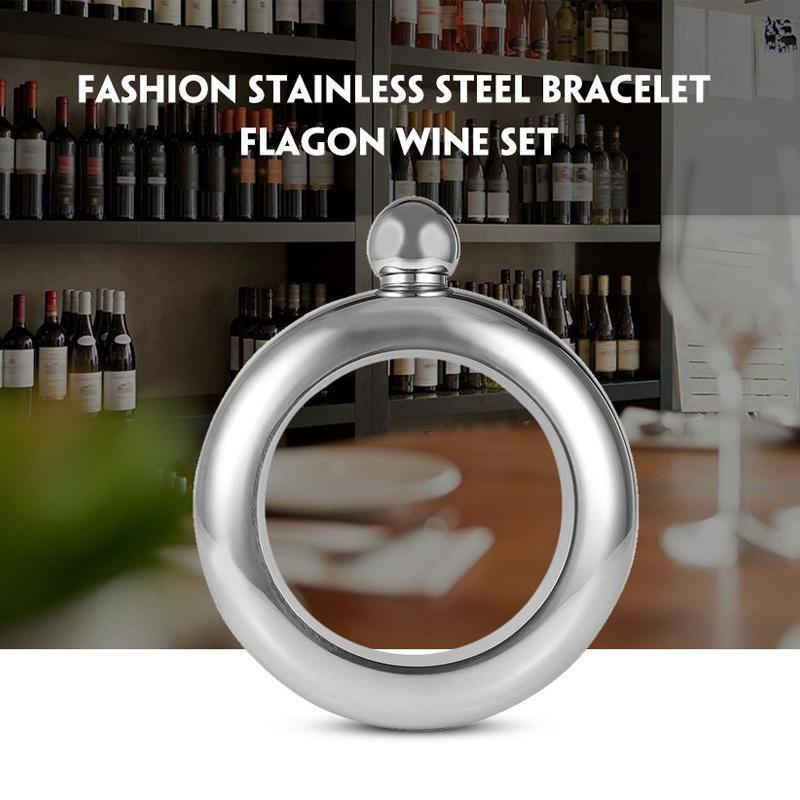 Stainless Steel Bangle Bracelet Flask for Women