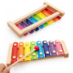 Load image into Gallery viewer, Wooden Octave Knocking Piano Baby Beat Xylophone