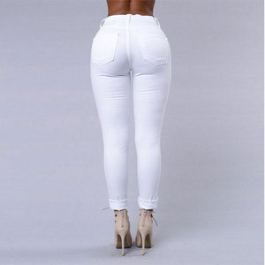 Women Sexy Jeans, White and Black