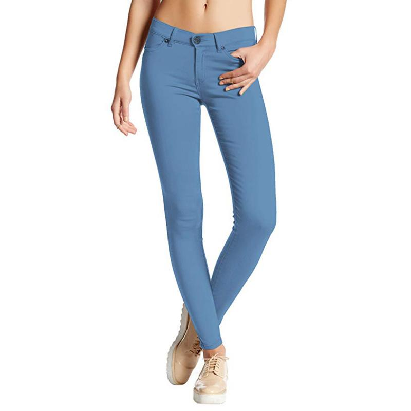 Autumn and winter women's skinny denim trousers