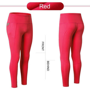 High Waist Yoga Pants with Telescopic Drawstring