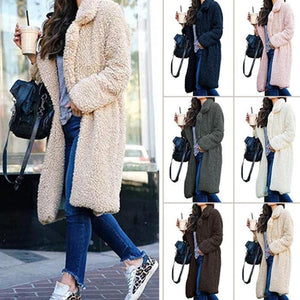 Long Fluffy Sherpa Coat Solid Teddy Bear Coats