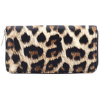Load image into Gallery viewer, Women Classic Leopard Animal Print Long Wallets