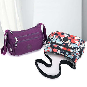 Large Capacity Ladies Waterproof Shoulder Bag, 10 Colors