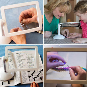 Hand-Free Desktop Magnifier with LED