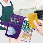 Load image into Gallery viewer, Zipper Wallet PU Leather phone Case