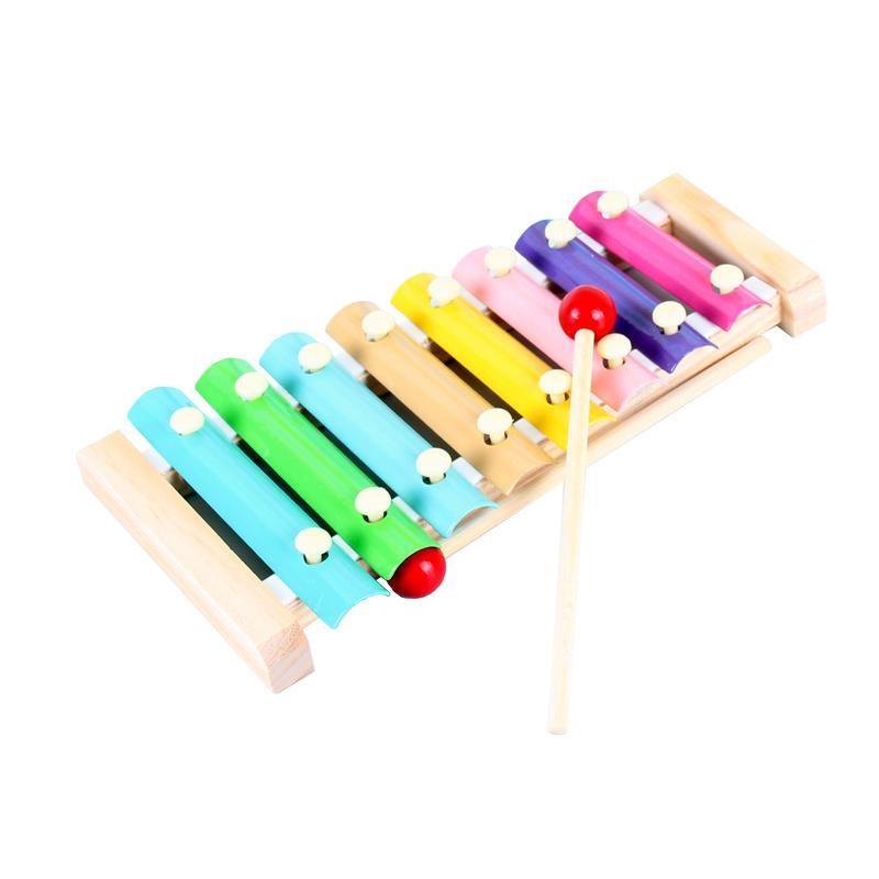 Wooden Octave Knocking Piano Baby Beat Xylophone