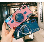Load image into Gallery viewer, Luxury 3D Camera Blue Ray Phone Cover For IPhone