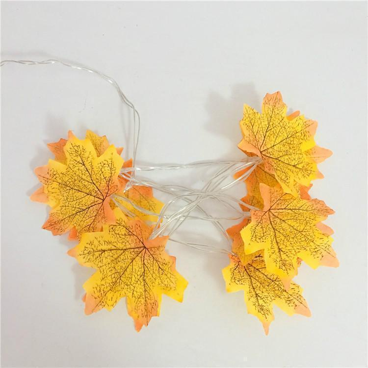 Thanksgiving Décor Fall Maple Leaf String Lights