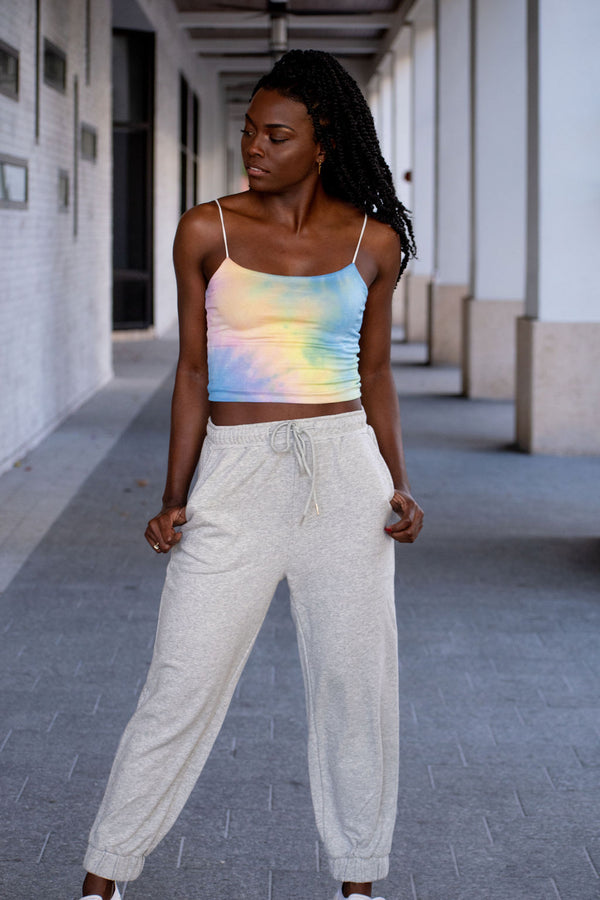 French Terry High-Waisted Joggers