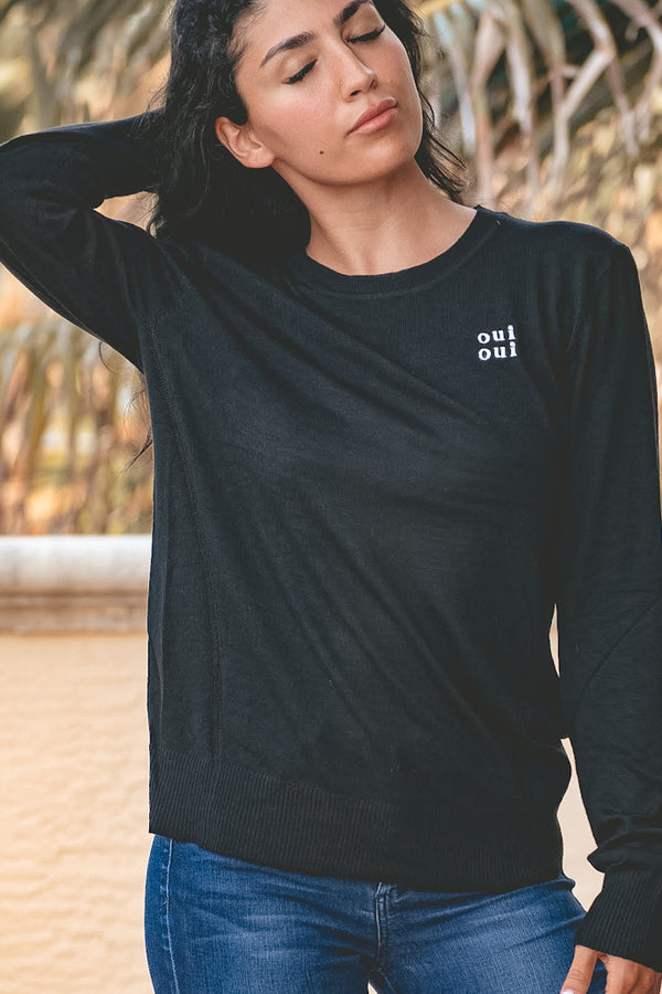 Oui Oui Sweater - Black