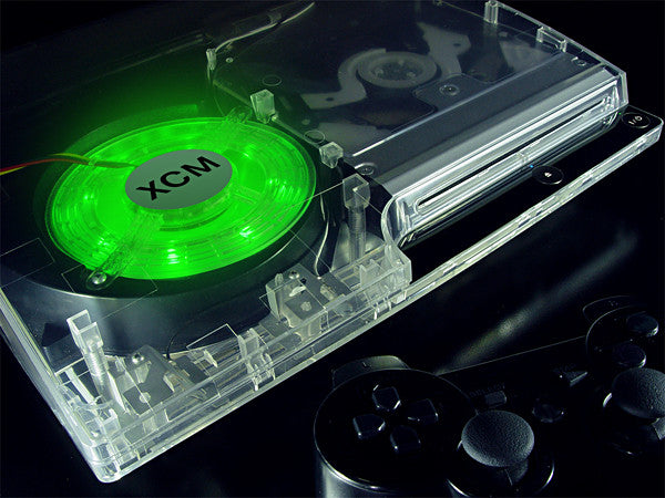 PS 3 slim LED fan - Green