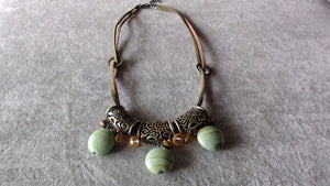 Stylish Bracelet-Green-Amber treasure stone bracelet