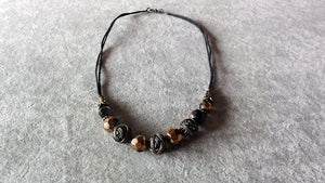 Stylish necklace v.2-Copper Wire Wrapped Beads necklace