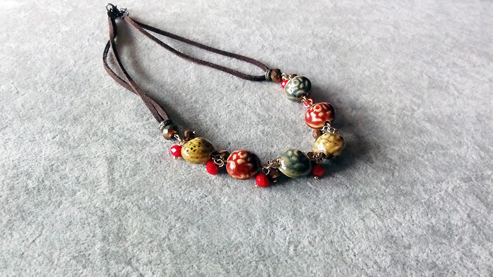 Stylish necklace v.2-Mixed assorted color beaded Necklace