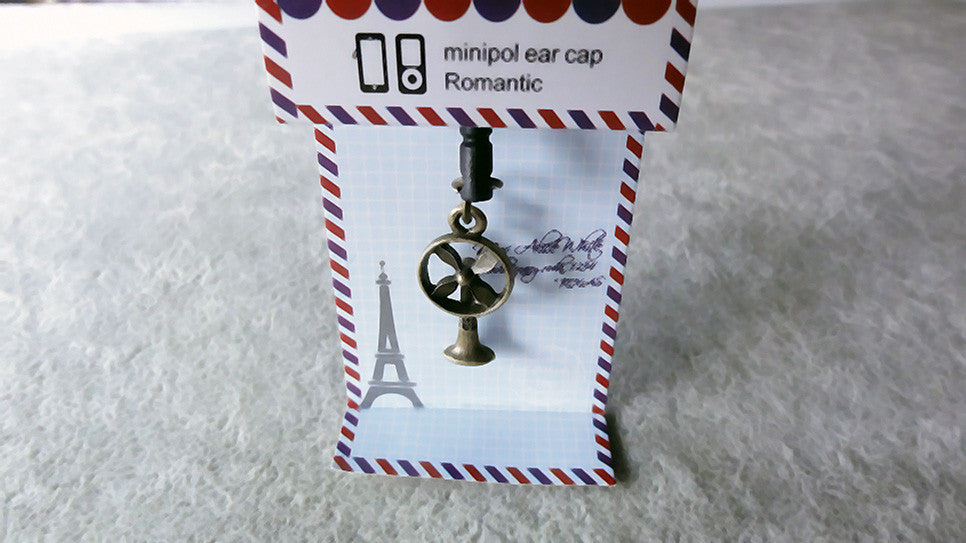 cute cartoon brass fan anti dust plugy ear caps plug