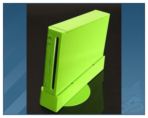 ii case solid Green  (the replacement case for Wii)