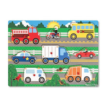 Load image into Gallery viewer, Melissa & Doug Vehicle Peg Puzzle
