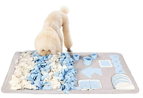 Snuffle Mat example with dietetic friendly dog food inside